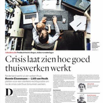 'Crisis laat zien hoe goed thuiswerken werkt'